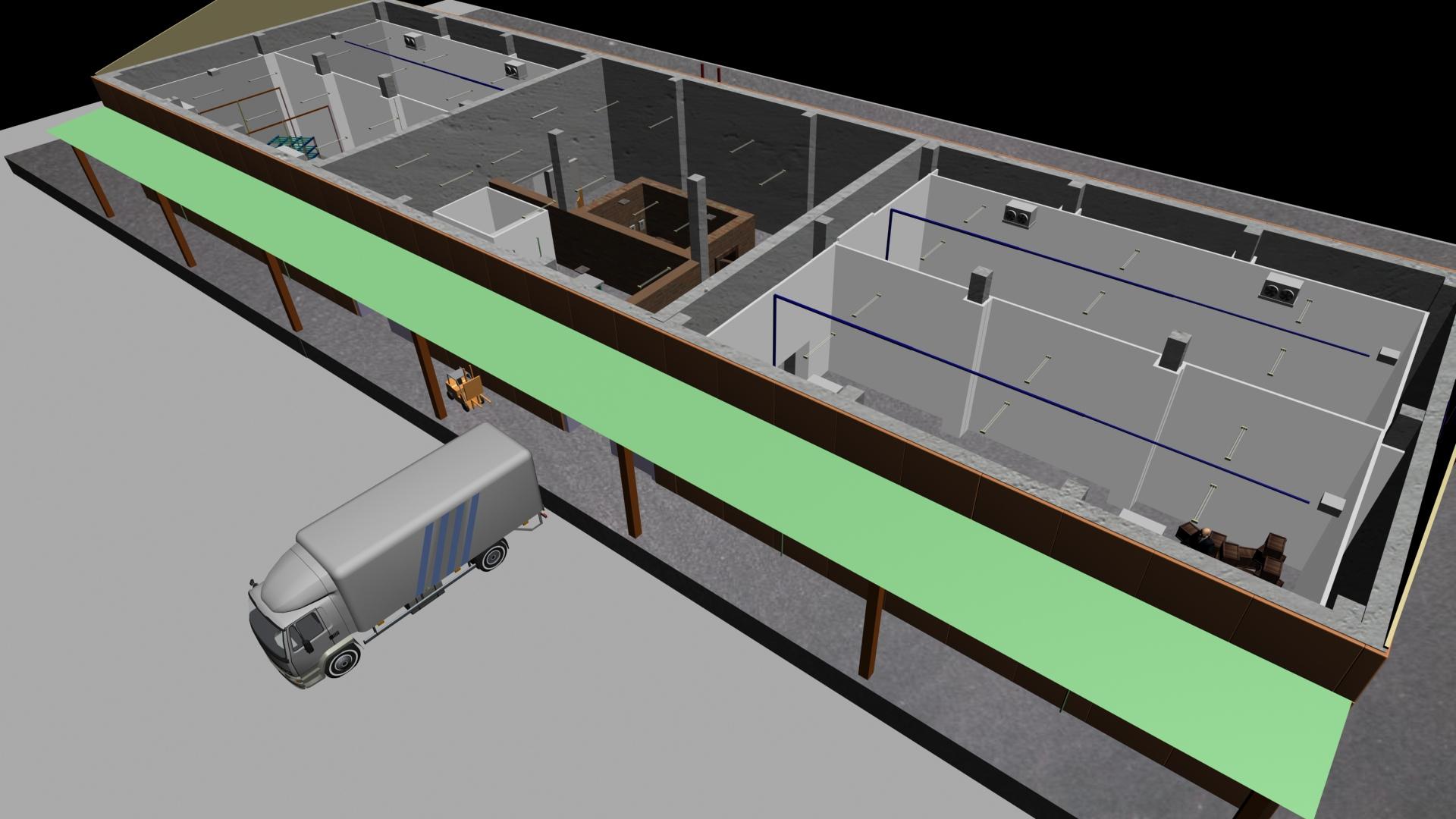 3D проектирование холодильных хранилищ